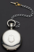 Timepieces:Pocket (pre 1900) , Elgin Coin Silver 18 Size Key Wind Hunter's Case Pocket Watch. ...