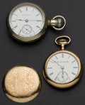 Timepieces:Pocket (post 1900), Illinois & Elgin 15 Jewels 18 Size Pocket Watches Runners. ...(Total: 2 Items)