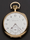 Timepieces:Pocket (post 1900), Tavannes 14k Gold 16 Size Private Label. ...