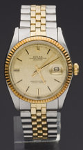 Timepieces:Wristwatch, Rolex Ref. 1601 Gent's Two Tone Oyster Perpetual Datejust, circa 1970. ...