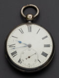 Timepieces:Pocket (pre 1900) , Hugh Moor Sterling Silver Case Lever Fusee Pocket Watch. ...