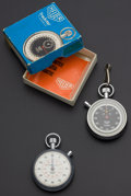 Timepieces:Other , Two Heuer Timers. ... (Total: 2 Items)
