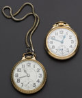 Timepieces:Pocket (post 1900), Hamilton 992 B & Elgin Grade 571 B.W. Raymond 21 Jewel For Repair. ... (Total: 2 Items)