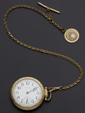 Timepieces:Pocket (post 1900), Waltham 16 Size 23 Jewel Vanguard With Chain. ...