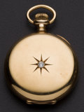 Timepieces:Pocket (post 1900), . Boasen Bros. Swiss 14k Gold 17 Jewel Gold Hunter's Case PocketWatch. ...