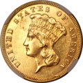 Three Dollar Gold Pieces, 1888 $3 MS61+ NGC....