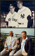 Baseball Collectibles:Photos, Ted Williams, Joe DiMaggio and Others Multi Signed Photographs Lotof 2....