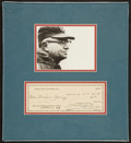 Football Collectibles:Others, 1960 Vince Lombardi Signed Check Display....