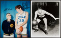 Basketball Collectibles:Photos, Bill Walton and John Wooden Signed Photograph Lot of 2....