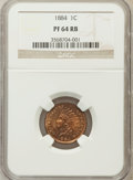 Proof Indian Cents: , 1884 1C PR64 Red and Brown NGC. NGC Census: (82/155). PCGSPopulation (170/168). Mintage: 3,942. Numismedia Wsl. Price for ...