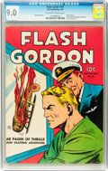 Golden Age (1938-1955):Science Fiction, Four Color #10 Flash Gordon (Dell, 1942) CGC VF/NM 9.0 Off-white towhite pages....