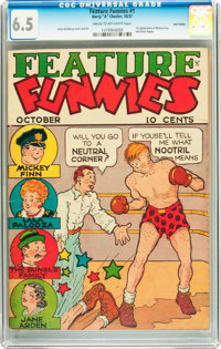 Feature Funnies #1 Lost Valley pedigree (Chesler, 1937) CGC FN+ 6.5 Cream to off-white pages