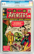 Silver Age (1956-1969):Superhero, The Avengers #1 (Marvel, 1963) CGC VF 8.0 Off-white to whitepages....