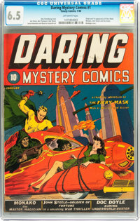 Daring Mystery Comics #1 (Timely, 1940) CGC FN+ 6.5 Off-white pages