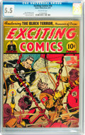 Golden Age (1938-1955):Superhero, Exciting Comics #28 (Nedor/Better/Standard, 1943) CGC FN- 5.5 Off-white pages....