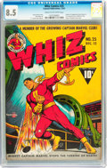 Golden Age (1938-1955):Superhero, Whiz Comics #25 (Fawcett Publications, 1941) CGC VF+ 8.5 Cream to off-white pages....