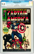 Silver Age (1956-1969):Superhero, Captain America #100 (Marvel, 1968) CGC NM/MT 9.8 White pages....