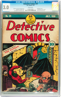 Detective Comics #29 (DC, 1939) CGC GD/VG 3.0 Cream pages