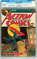 Golden Age (1938-1955):Superhero, Action Comics #23 (DC, 1940) CGC GD+ 2.5 Slightly brittle pages....