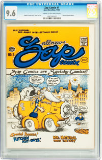 Zap Comix #1 (First Printing - Plymell) (Apex Novelties, 1968) CGC NM+ 9.6 Cream to off-white pages
