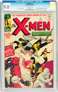 Silver Age (1956-1969):Superhero, X-Men #1 (Marvel, 1963) CGC VF/NM 9.0 Off-white pages....