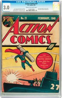 Action Comics #21 (DC, 1940) CGC GD/VG 3.0 Cream to off-white pages