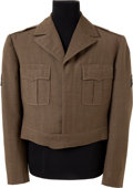 "Movie/TV Memorabilia:Costumes, A Charlton Heston Military Jacket Possibly from ""The Private War ofMajor Benson.""..."