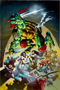 Original Comic Art:Covers, Simon Bisley Casey Jones & Raphael #1 Cover Original Art(Mirage, 1994)....