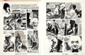 """Original Comic Art:Panel Pages, Auraleon (Rafael Aura Leon) Vampirella #26 Inside Front and Back Cover Complete 2-Page Story """"Death of Doctor Morb..."""
