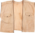"Movie/TV Memorabilia:Costumes, A John Wayne 'Safari' Vest from ""Hatari.""..."