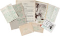 Music Memorabilia:Autographs and Signed Items, Louis Armstrong Handwritten Letters and Signed Photos (1949-60)....(Total: 7 Items)