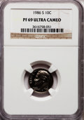 Proof Roosevelt Dimes: , 1986-S 10C PR69 Ultra Cameo NGC. NGC Census: (331/73). PCGSPopulation (2853/173). Numismedia Wsl. Price for problem free ...