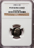 Proof Roosevelt Dimes: , 1990-S 10C PR69 Ultra Cameo NGC. NGC Census: (383/155). PCGSPopulation (3179/266). Numismedia Wsl. Price for problem free...