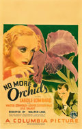"Movie Posters:Drama, No More Orchids (Columbia, 1932). Window Card (14"" X 22"").. ..."
