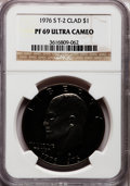 Proof Eisenhower Dollars: , 1976-S $1 Clad, Type Two PR69 Ultra Cameo NGC. NGC Census: (313/0).PCGS Population (14132/0). Numismedia Wsl. Price for p...