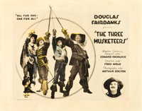 "The Three Musketeers (United Artists, 1921). Half Sheet (22"" X 28"")"