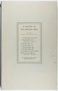 Books:Religion & Theology, [Bible]. A History of the English Bible as Shown in Facsimile Pages from 1525 to 1611. American Bible Society, ca. 1...