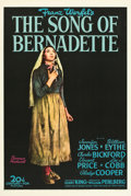 "Movie Posters:Drama, The Song of Bernadette (20th Century Fox, 1943). One Sheet (27"" X41"") Style B.. ..."