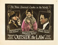 "Movie Posters:Crime, Outside the Law (Universal, 1920). Half Sheet (22"" X 28"").. ..."