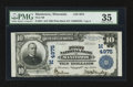 National Bank Notes:Wisconsin, Manitowoc, WI - $10 1902 Plain Back Fr. 631 First NB Ch. # (M)4975. ...