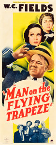 "Movie Posters:Comedy, Man on the Flying Trapeze (Paramount, 1935). Insert (14"" X 36"")....."