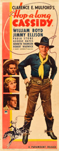 "Movie Posters:Western, Hop-a-long Cassidy (Paramount, 1935). Insert (14"" X 36"").. ..."