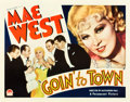 "Movie Posters:Comedy, Goin' to Town (Paramount, 1935). Half Sheet (22"" X 28"") Style A....."