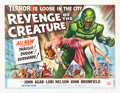 """Movie Posters:Horror, Revenge of the Creature (Universal International, 1955). Half Sheet(22"""" X 28"""") Style A.. ..."""