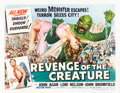 "Movie Posters:Horror, Revenge of the Creature (Universal International, 1955). Half Sheet(22"" X 28"") Style B.. ..."