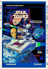 "Star Tours (Disney, 1986). Printer's Proof One Sheet (33"" X 46.5"")"