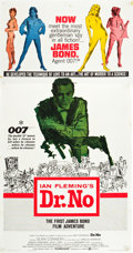 "Movie Posters:James Bond, Dr. No (United Artists, 1962). Three Sheet (41"" X 79.5"").. ..."