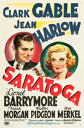 "Movie Posters:Comedy, Saratoga (MGM, 1937). One Sheet (27"" X 41"") Style C.. ..."