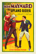 "Movie Posters:Western, The Upland Rider (First National, 1928). One Sheet (27"" X 41"")....."