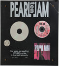 Music Memorabilia:Awards, Pearl Jam Ten Dutch Association of Producers and ImportersPlatinum Album Award. ...